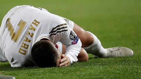 Chấn thương khiến Hazard chưa thể đáp ứng được sự kỳ vọng của những người yêu mến Real Madrid