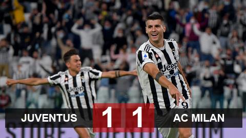 Kết quả Juventus vs AC Milan: Lão phu nhân vẫn chưa biết thắng