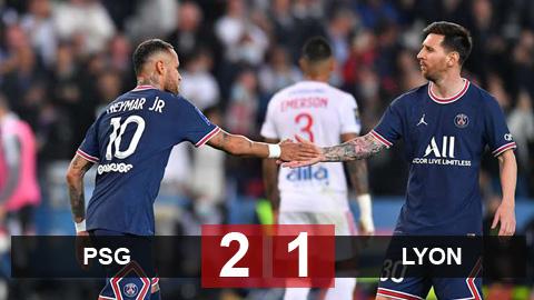 Kết quả PSG vs Lyon: Messi mất hút, chỉ Neymar và Mbappe ghi dấu ấn