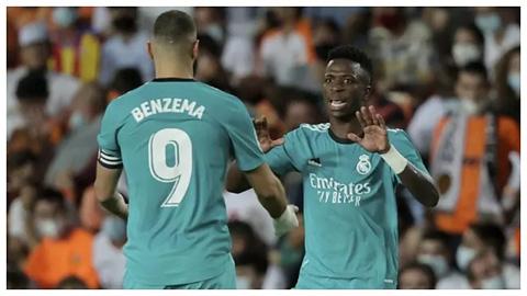 Benzema và Vinicius đang chơi rất ăn ý cùng nhau
