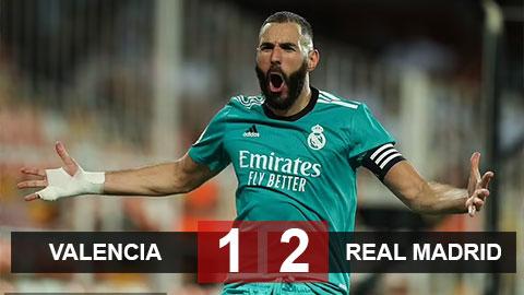 Kết quả Valencia vs Real: Ngược dòng ấn tượng, Real cân bằng kỷ lục của chính mình
