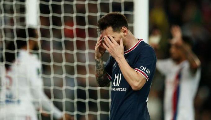 Messi tiếp tục gây thất vọng ở trận đấu PSG vs Lyon