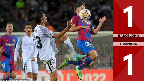 Barcelona vs Granada: 1-1 (Vòng 5 La Liga 2021/22)