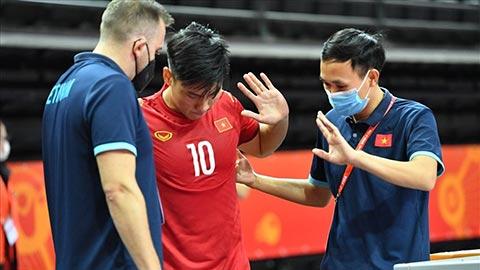 Đức Tùng của ĐT futsal Việt Nam bị đứt dây chằng đầu gối