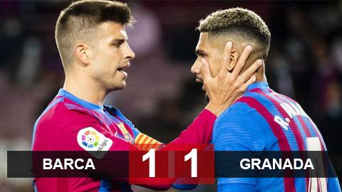 Kết quả Barcelona 1-1 Granada: Thoát chết hú vía