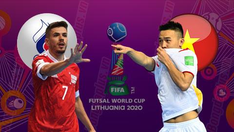 Trực tiếp ĐT futsal Việt Nam vs Nga, 21h30 ngày 22/9