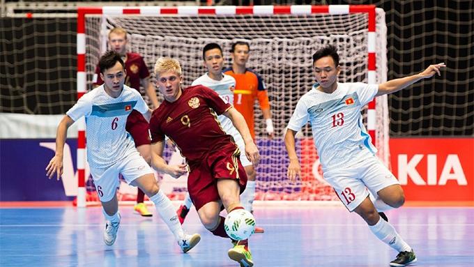 ĐT futsal Nga từng giành chiến thắng 7-0 trước ĐT futsal Việt Nam tại Futsal World Cup 2016