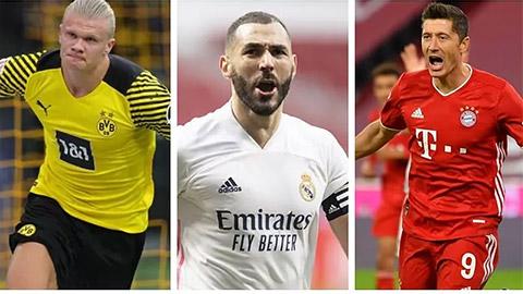 """Benzema 'ăn đứt' Haaland và Lewandowski về sự hiệu quả<span class=""""photo""""></span>"""
