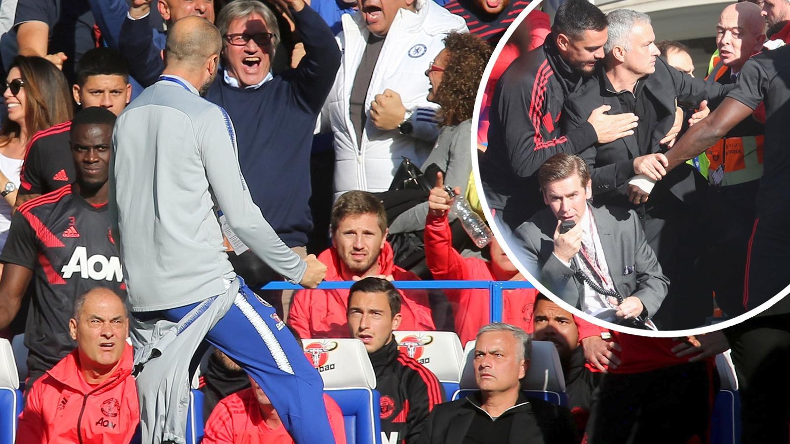Pha ăn mừng của trợ lý Marco Ianni (quay lưng) đã khiến Mourinho nổi điên