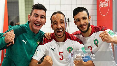 Thắng nghẹt thở Venezuela,  Futsal Morocco tiếp bước Nga vào tứ kết Futsal World Cup