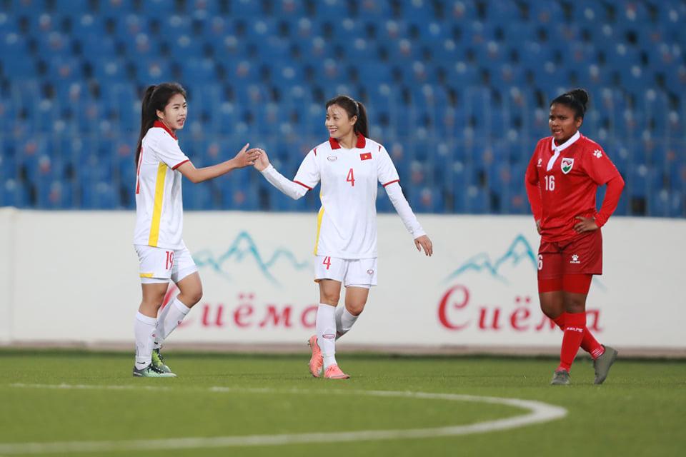 Thanh Nhã (19) ghi bàn thắng cho nữ Việt Nam