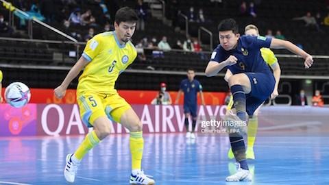 Kết quả futsal Kazakhstan 7-0 futsal Thái Lan: Người Thái chia tay World Cup trong thất vọng