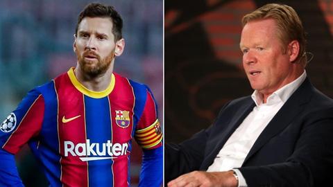 """Koeman: """"Messi là một... bạo chúa trên sân tập"""""""