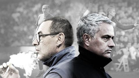 Sarri - Mourinho: Cuộc đấu trí giữa hai ông thầy bị căm ghét