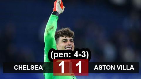 Kết quả Chelsea 1-1 Aston Villa (pen: 4-3): The Blues chật vật