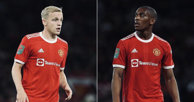 Van de Beek và Martial tiếp tục gây thất vọng