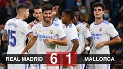 Kết quả Real Madrid 6-1 Mallorca: Benzema và Asensio hợp tấu đưa Real trở lại đỉnh bảng