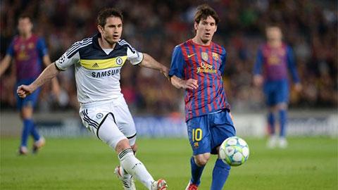 Lampard không xếp Ronaldo ngang tầm với Messi