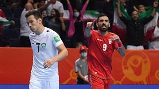 Iran đại diện châu Á vào tứ kết FIFA futsal World Cup sau màn rượt đuổi tỷ số nghẹt thở