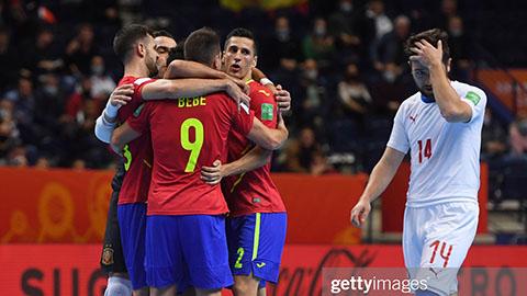 Đội bóng hòa với ĐT futsal Việt Nam bị loại ở vòng 1/8 Futsal World Cup