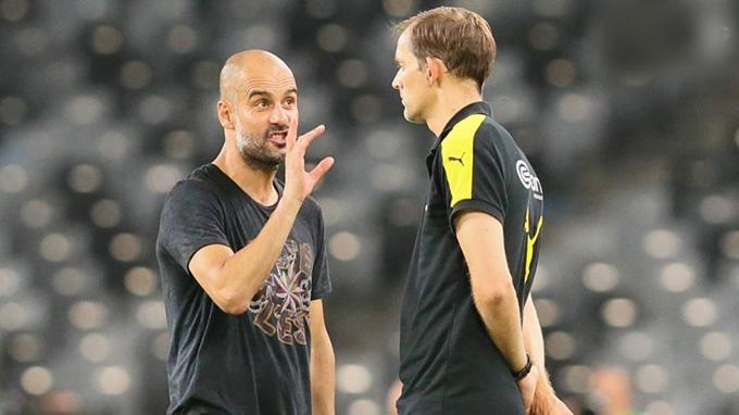 Guardiola và Tuchel luôn chìm vào thế giới riêng của mình mỗi khi gặp nhau