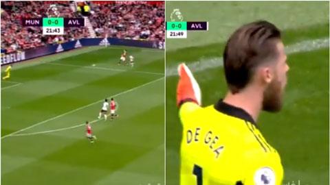 Maguire và De Gea mắc sai lầm ngớ ngẩn suýt khiến Man United thủng lưới