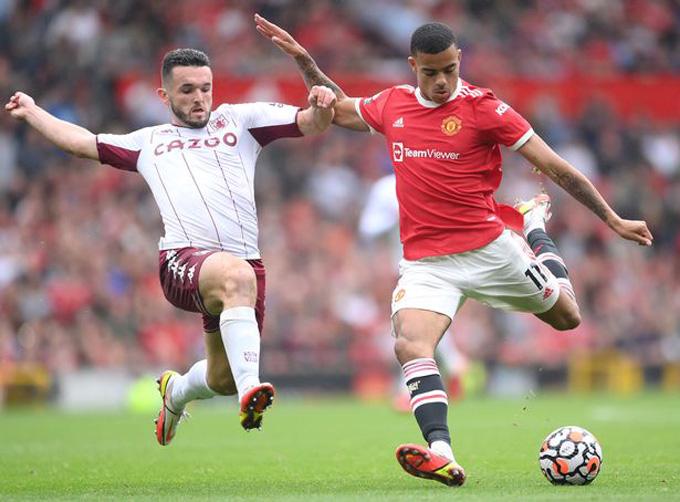 Greenwood quá ham dứt điểm ở trận đấu Man United vs Aston Villa