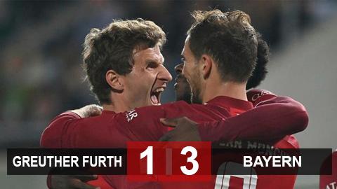 Kết quả Greuther Furth 1-3 Bayern: Hùm xám vững ngôi đầu