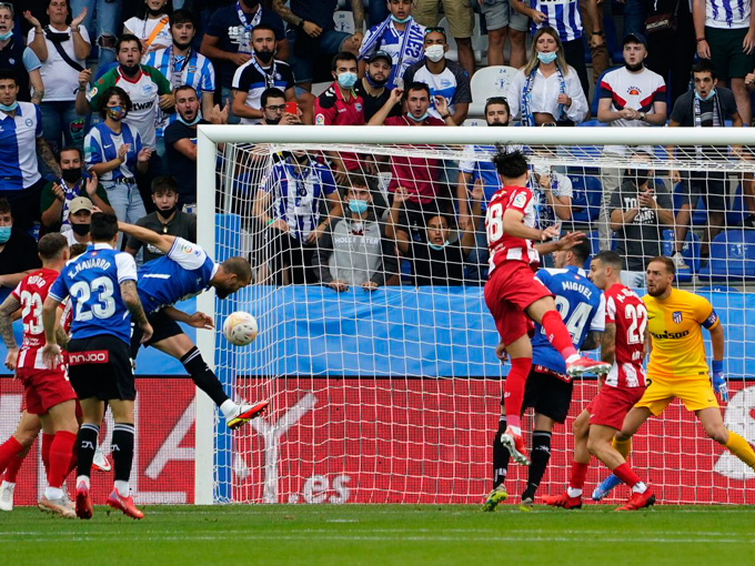 Laguardia ghi bàn duy nhất ở trận Alaves vs Atletico