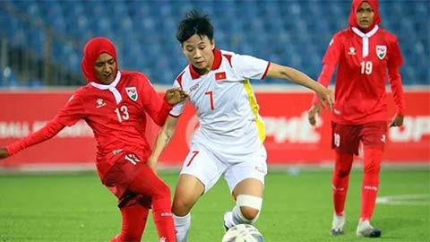 ĐT nữ Việt Nam rộng cửa đi tiếp sau khi Tajikistan chỉ thắng 4-0 Maldives