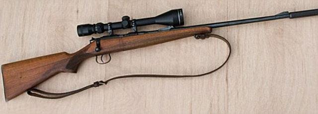 Khẩu súng trường hơi A.22 có đầy đủ ống ngắm của Ashley Cole