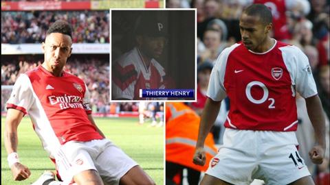 Aubameyang sao chép màn ăn mừng biểu tượng của Henry