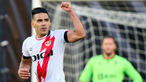 Falcao ghi bàn trận thứ 3 liên tiếp giúp Vallecano áp sát nhóm đầu