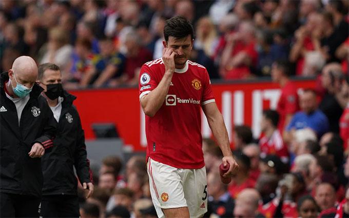 Maguire phải rời sân giữa chừng vì chấn thương
