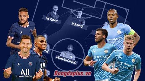 Đội hình kết hợp PSG vs Man City: Hàng công PSG & tuyến giữa Man City
