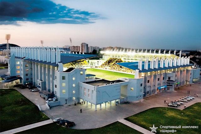 SVĐ Sheriff Stadium giống như một lâu đài trong làng bóng đá nghèo khó của Moldova