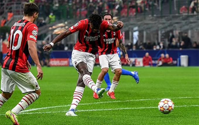 Leao mở tỷ số trận Milan vs Atletico