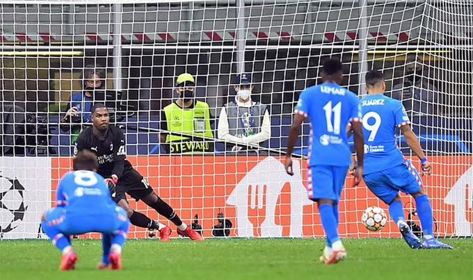 Suarez ghi bàn quyết định trận Milan vs Atletico
