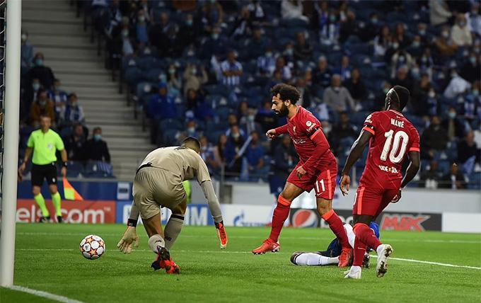 Salah mở tỷ số trận Porto vs Liverpool