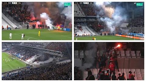 Hết ở quốc nội, fan Marseille lại làm loạn ở cúp châu Âu