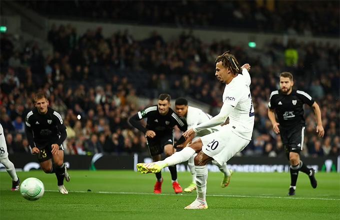 Alli mở tỷ số trận Tottenham vs Mura