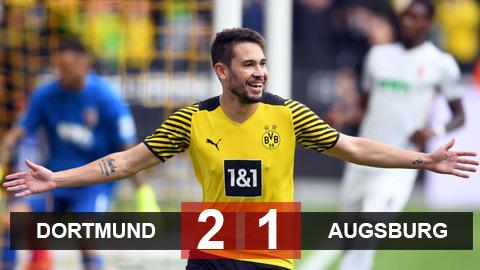 Kết quả Dortmund 2-1 Augsburg: Dortmund lên ngôi nhì bảng