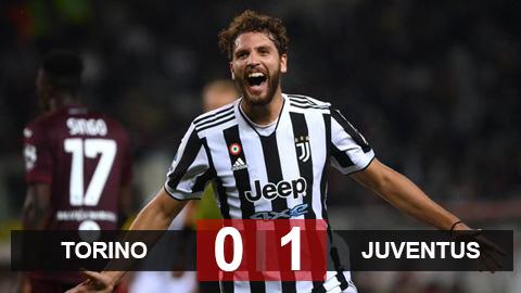 Kết quả Torino 0-1 Juventus: Locatelli tỏa sáng muộn giúp Juventus thắng trận derby