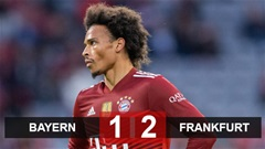 Kết quả Bayern 1-2 Frankfurt: Hàng công vô duyên, Bayern thua đau Frankfurt