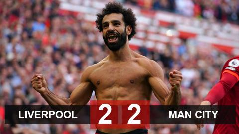Kết quả Liverpool 2-2 Man City: Đại tiệc bàn thắng tại Anfield