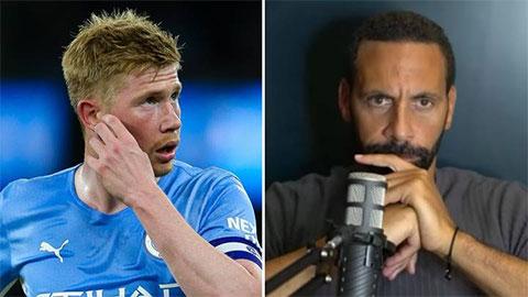 Rio Ferdinand không xem De Bruyne là cầu thủ hay nhất Premier League hiện giờ