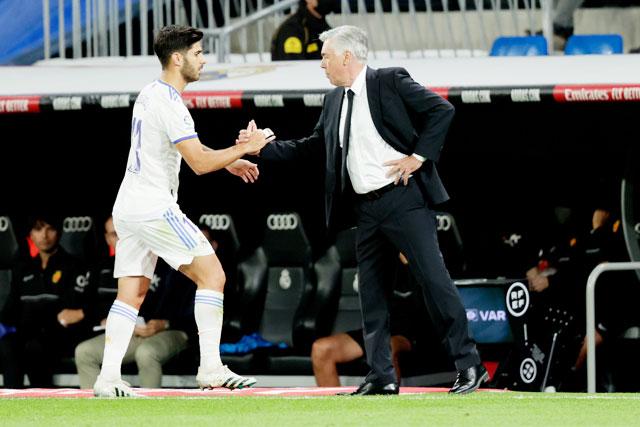Từ khi HLV Ancelotti tới Real, Asensio không còn được ra sân thường xuyên như trước