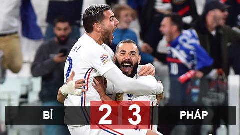 Kết quả Bỉ 2-3 Pháp: Ngược dòng kinh điển