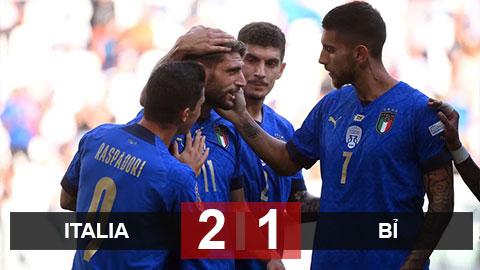 Kết quả Italia 2-1 Bỉ: 3 lần được khung gỗ cứu thua, Italia lại khiến Bỉ ôm hận