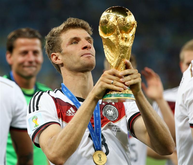 Ngoài 6 Cúp Quốc gia, 2 Cúp Champions League, Mueller cũng đã vô địch Thế giới năm 2014
